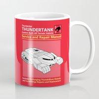 thundercats Mugs featuring Thundertank Service and Repair Manual by adho1982
