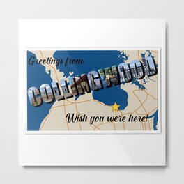 Greetings from Collingwood Metal Print