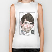messi Biker Tanks featuring MESSI by BANDY