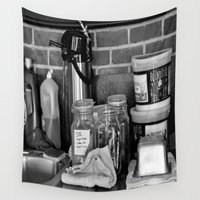 cafe Wall Tapestries featuring The Cafe by Kirsten Renfroe Photography