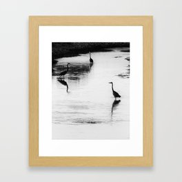 Trilogy BW Framed Art Print