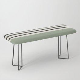 Sage Green x Stripes Bench