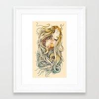 sleeping beauty Framed Art Prints featuring Sleeping Beauty by Azrhon