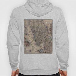 Vintage NYC and Brooklyn Map (1847) Hoody