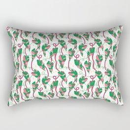 Flowing Vines Blush Pink Rectangular Pillow