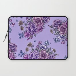 Vintage Purple Florals Laptop Sleeve