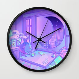 Moonlight Rose Wall Clock