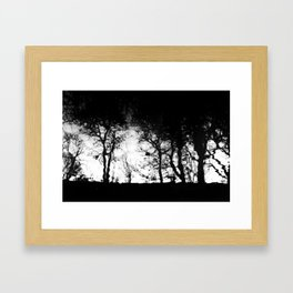 Inky Framed Art Print