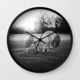 Ghost Girl in the Sand - Jacs Fishburne - Black and White Film Photograph Wall Clock