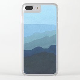 Landscape Blue Clear iPhone Case