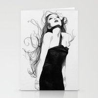 lindsay lohan Stationery Cards featuring Lindsay by J. Nicole