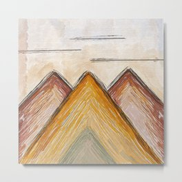 Mountains in Gold Metal Print
