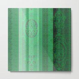 Boujee Boho Emerald Green Tapestry Print Metal Print