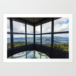 from the fire tower Art Print