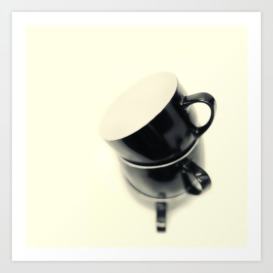Longing for coffee.... Art Print