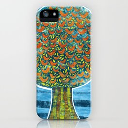Tree and Birds iPhone Case