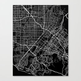 santa ana map california Canvas Print
