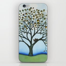 Cairo Whimsical Cat in Tree iPhone Skin