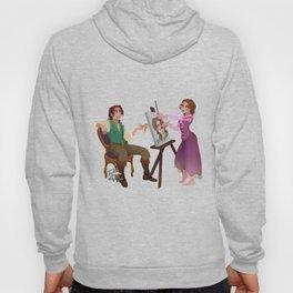 Tangled - Rapunzel Short Brown Hair and Flynn Rider Hoody