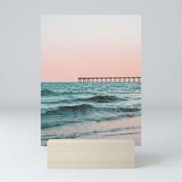 Beach Pier Sunrise Mini Art Print