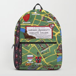 HARVARD University map CAMBRIDGE Backpack