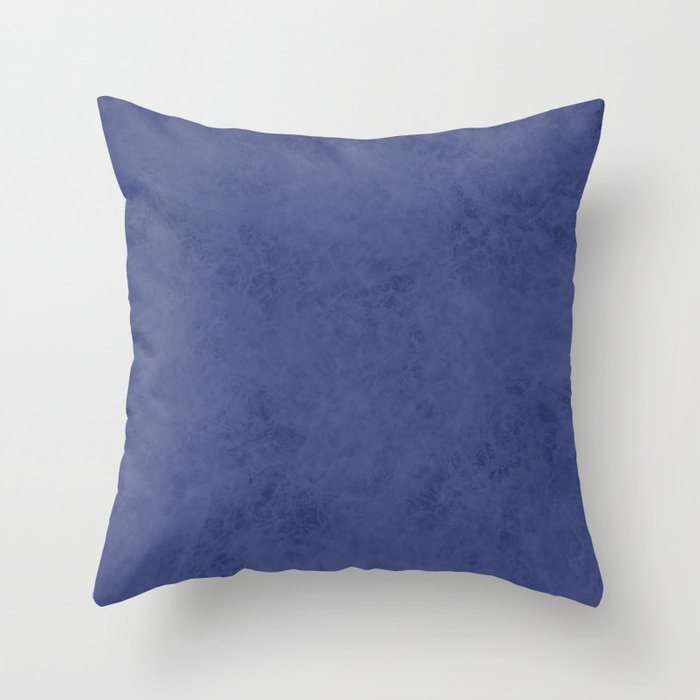 Blue suede Throw Pillow