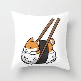 Shiba Inu Sushi Throw Pillow