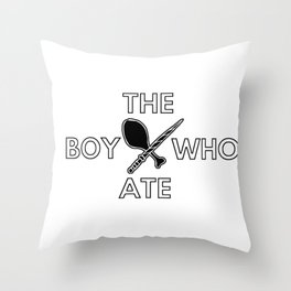 The Boy Who Ate - Wand and Chicken Crest Throw Pillow
