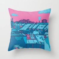 budapest Throw Pillows featuring Budapest by Zsolt Vidak