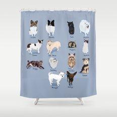 14 Dogs & Kitties Shower Curtain