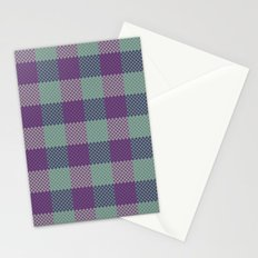 Pixel Plaid - Dark Seas Stationery Cards