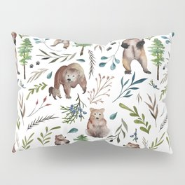 Bears, trees, and leaves pattern Pillow Sham