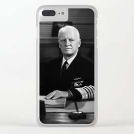 Admiral Chester Nimitz Portrait Clear iPhone Case