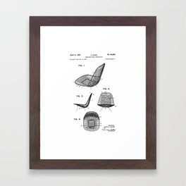Eames - Wire Chair  - Original Patent/Blueprint Artwork Reproduction Framed Art Print