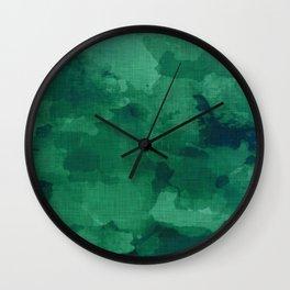emerald watercolor Wall Clock