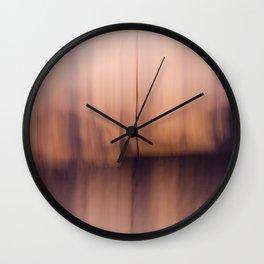 Rose Gold Abstract Horizon Wall Clock