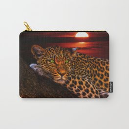 Leopard At Sunset Carry-All Pouch