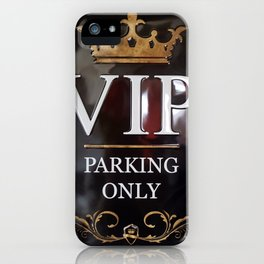 VIP- gold on black iPhone Case