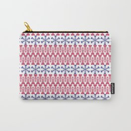 Winter Print Carry-All Pouch