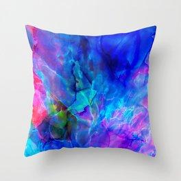 abstract sea waves cb Throw Pillow