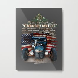 Rat Rod Invasion Metal Print