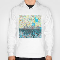 houston Hoodies featuring houston city skyline by Bekim ART