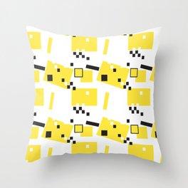 Abstract Yellow Taxi  Throw Pillow