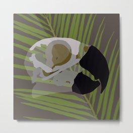 Feathered Palms Metal Print