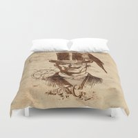gentleman Duvet Covers featuring Extraordinary Gentleman by Diogo Verissimo