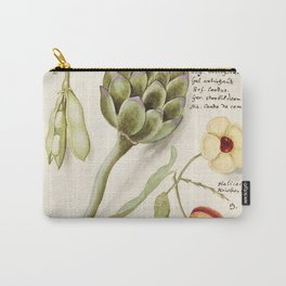 Artichoke Cynara scolymus broad beans Vicia faba and lampion plant Physalis (1596-1610) by Anselmus Carry-All Pouch