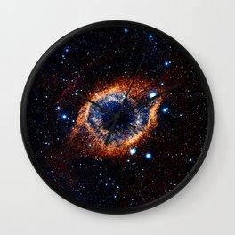 Helix Nebula (Infrared) Wall Clock