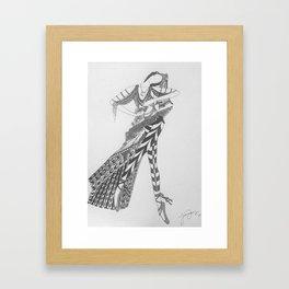 Dancer Series - Basquette Framed Art Print