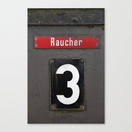 Raucher Canvas Print
