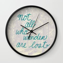 Time to Wander Wall Clock